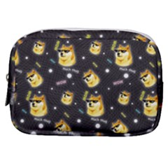 Doge Much Thug Wow Pattern Funny Kekistan Meme Dog Black Background Make Up Pouch (small) by snek