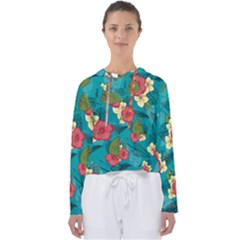 Apu Apustaja And Groyper Pepe The Frog Frens Hawaiian Shirt With Red Hibiscus On Green Background From Kekistan Women s Slouchy Sweat