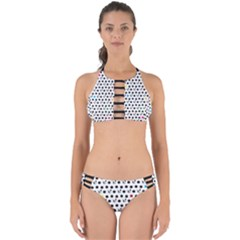 Boston Terrier Dog Pattern With Rainbow And Black Polka Dots Perfectly Cut Out Bikini Set