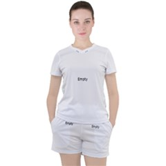 Birch Forest   Winter Idyll Women s Tee And Shorts Set