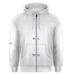 Birch Forest   Winter Idyll Men s Zipper Hoodie