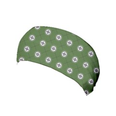 Logo Kekistan Pattern Elegant With Lines On Green Background Yoga Headband