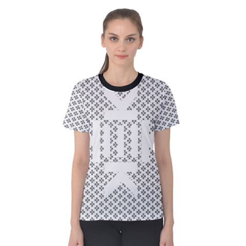 Logo Kek Pattern Black And White Kekistan Women s Cotton Tee by snek