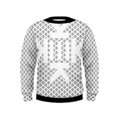Logo Kek Pattern Black And White Kekistan Kids  Sweatshirt by snek
