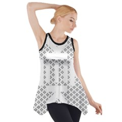 Logo Kek Pattern Black And White Kekistan Side Drop Tank Tunic by snek