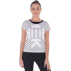 Logo Kek Pattern Black And White Kekistan Short Sleeve Sports Top  by snek