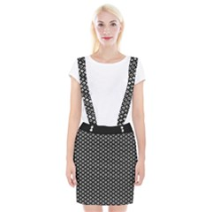 Logo Kek Pattern Black And White Kekistan Black Background Braces Suspender Skirt by snek
