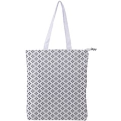 Logo Kek Pattern Black And White Kekistan White Background Double Zip Up Tote Bag
