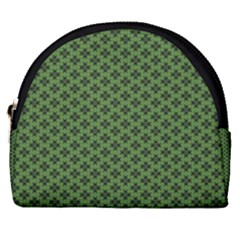 Logo Kek Pattern Black And Kekistan Green Background Horseshoe Style Canvas Pouch