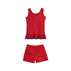 Maga Make America Great Again Usa Pattern Red Kid s Boyleg Swimsuit by snek