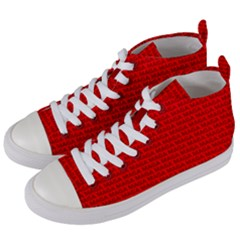 Maga Make America Great Again Usa Pattern Red Women s Mid Top Canvas Sneakers by snek