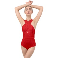 Maga Make America Great Again Usa Pattern Red Cross Front Low Back Swimsuit