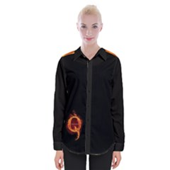 Qanon Letter Q Fire Effect Wwgowga Wwg1wga Womens Long Sleeve Shirt