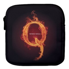 Qanon Letter Q Fire Effect Wwgowga Wwg1wga Mini Square Pouch by snek