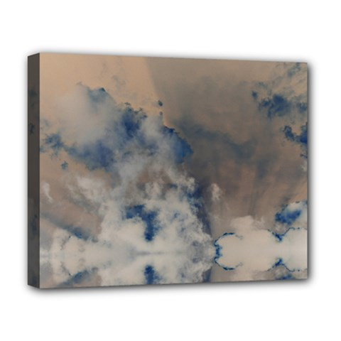 Deep Time Clouds Deluxe Canvas 20  X 16  (stretched)
