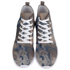Deep Time Clouds Men s Lightweight High Top Sneakers by LoolyElzayat