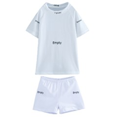 Decorative Abstract Pattern Kids  Swim Tee And Shorts Set