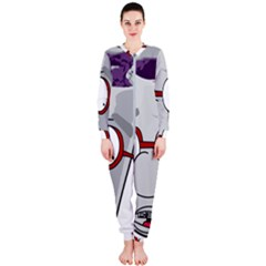 Purple Cup Nerd Onepiece Jumpsuit (ladies)  by grimelab