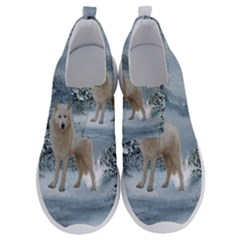 Wonderful Arctic Wolf In The Winter Landscape No Lace Lightweight Shoes