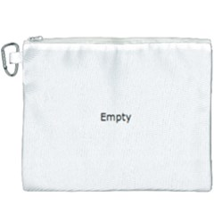 White Architectural Structure Canvas Cosmetic Bag (xxxl)