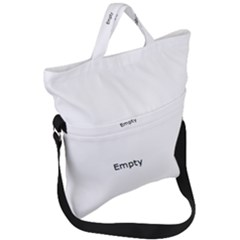 White Architectural Structure Fold Over Handle Tote Bag
