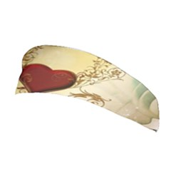 Wonderful Decorative Heart On Soft Vintage Background Stretchable Headband by FantasyWorld7