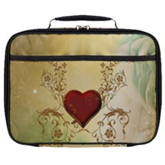 Wonderful Decorative Heart On Soft Vintage Background Full Print Lunch Bag