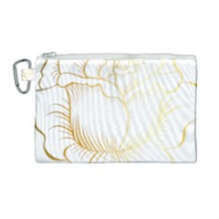 Golden Rose Stakes Canvas Cosmetic Bag (large) by Samandel
