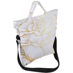 Golden Rose Stakes Fold Over Handle Tote Bag
