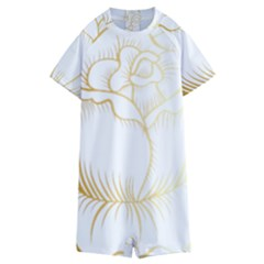 Golden Rose Stakes Kids  Boyleg Half Suit Swimwear