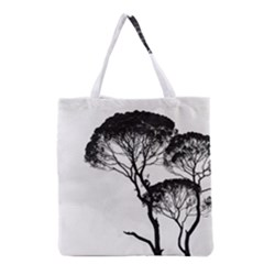 Silhouette Photo Of Trees Grocery Tote Bag