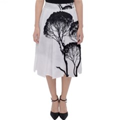 Silhouette Photo Of Trees Classic Midi Skirt