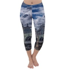 Architecture Big Ben Bridge Buildings Capri Winter Leggings