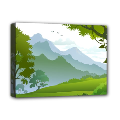 Forest Landscape Photography Illustration Deluxe Canvas 16  X 12  (stretched)