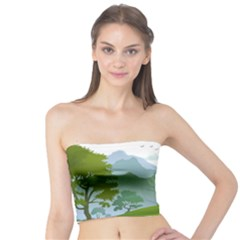 Forest Landscape Photography Illustration Tube Top