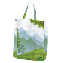 Forest Landscape Photography Illustration Giant Grocery Tote