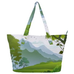 Forest Landscape Photography Illustration Full Print Shoulder Bag