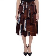 Abstract Architecture Building Business Classic Midi Skirt