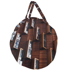 Abstract Architecture Building Business Giant Round Zipper Tote