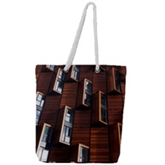 Abstract Architecture Building Business Full Print Rope Handle Tote (large)