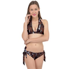 Abstract Architecture Building Business Tie It Up Bikini Set
