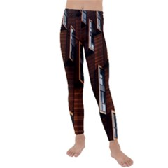 Abstract Architecture Building Business Kids  Lightweight Velour Leggings