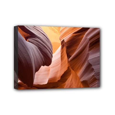 Light Landscape Nature Red Mini Canvas 7  X 5  (stretched)