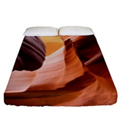 Light Landscape Nature Red Fitted Sheet (king Size) by Samandel