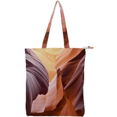 Light Landscape Nature Red Double Zip Up Tote Bag