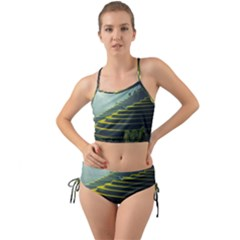 Scenic View Of Rice Paddy Mini Tank Bikini Set