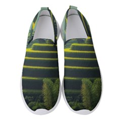 Scenic View Of Rice Paddy Women s Slip On Sneakers