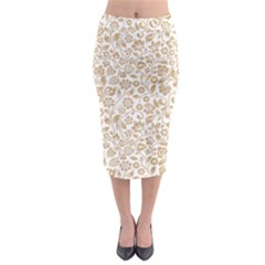 Vector Classical Pattern Midi Pencil Skirt