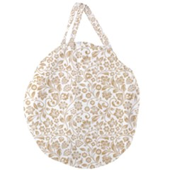 Vector Classical Pattern Giant Round Zipper Tote