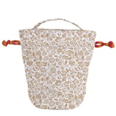 Vector Classical Pattern Drawstring Bucket Bag